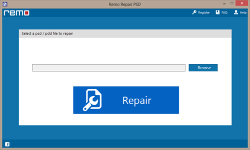 Repair PSD File - Main screen